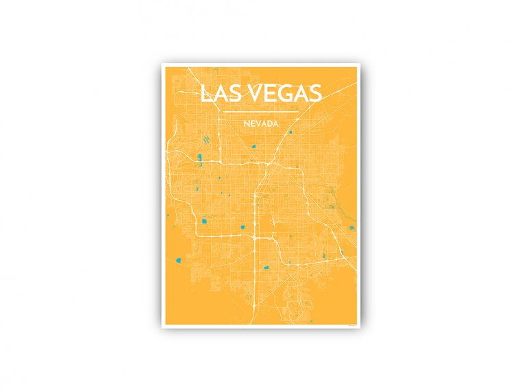 Modern City Map Art Print by Point Two Design - 79