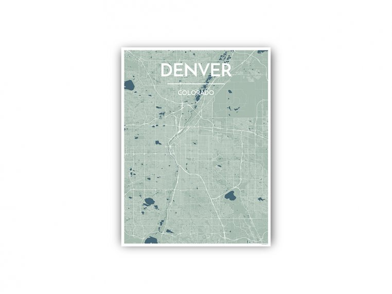 Modern City Map Art Print by Point Two Design - 84