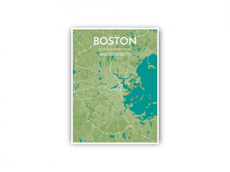 Modern City Map Art Print by Point Two Design - 95