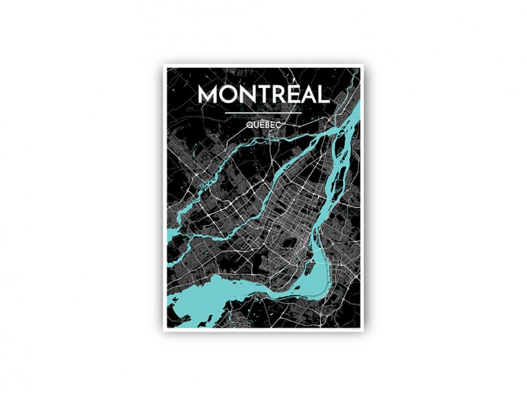 Modern City Map Art Print by Point Two Design - 98