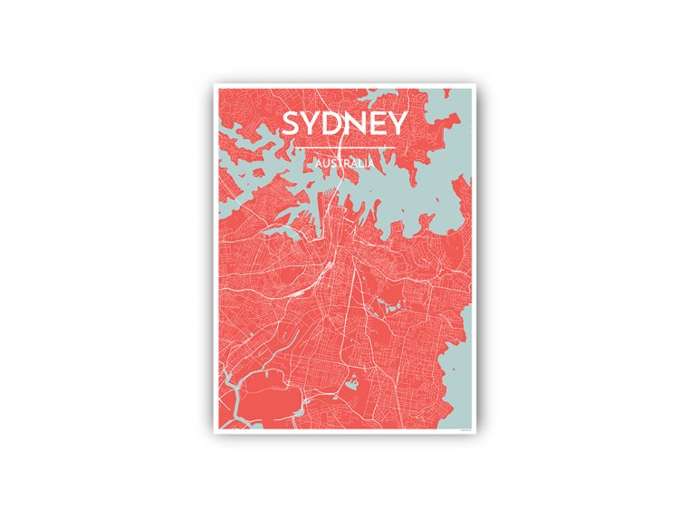 Modern City Map Art Print by Point Two Design - 99