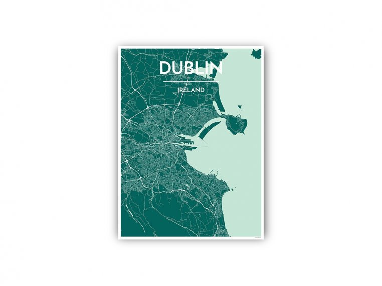 Modern City Map Art Print by Point Two Design - 103