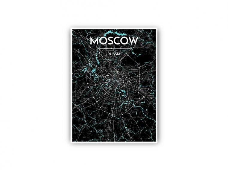 Modern City Map Art Print by Point Two Design - 106