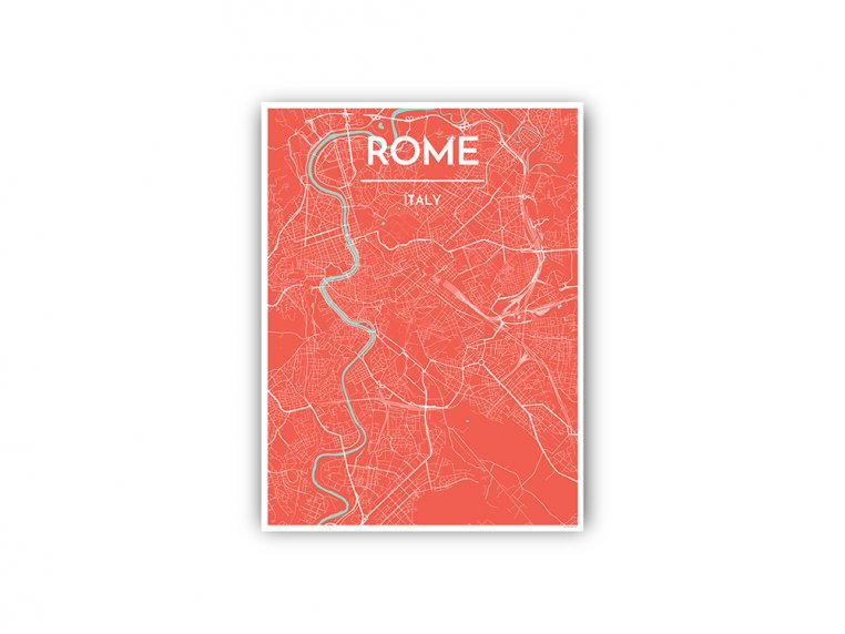 Modern City Map Art Print by Point Two Design - 107