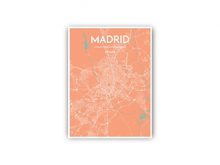 Modern City Map Art Print by Point Two Design - 108