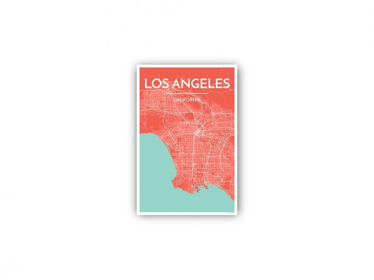 Modern City Map Art Print by Point Two Design - 116