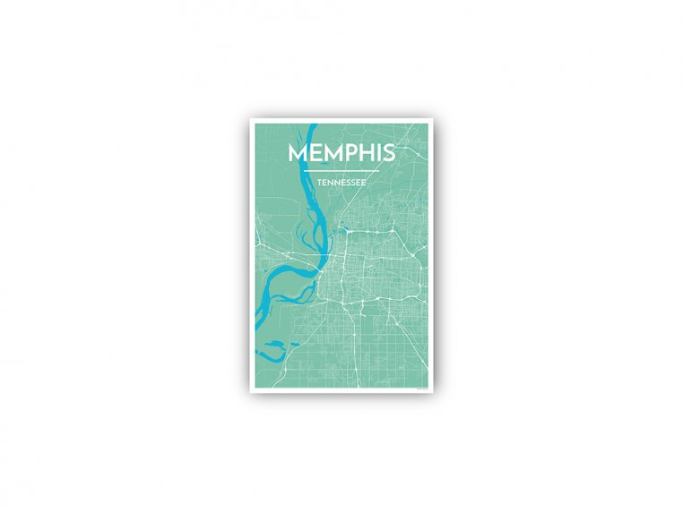 Modern City Map Art Print by Point Two Design - 132