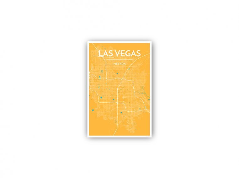 Modern City Map Art Print by Point Two Design - 134