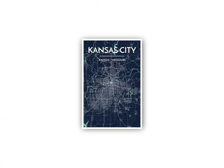 Modern City Map Art Print by Point Two Design - 135