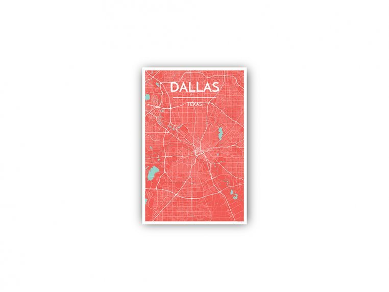 Modern City Map Art Print by Point Two Design - 149