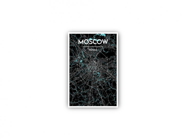 Modern City Map Art Print by Point Two Design - 161