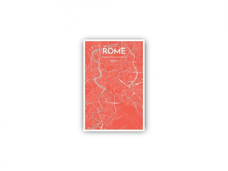 Modern City Map Art Print by Point Two Design - 162