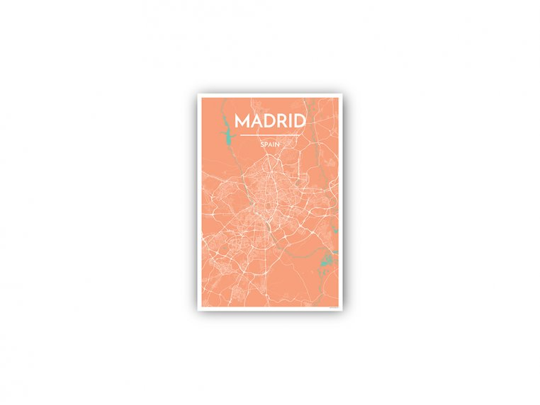 Modern City Map Art Print by Point Two Design - 163