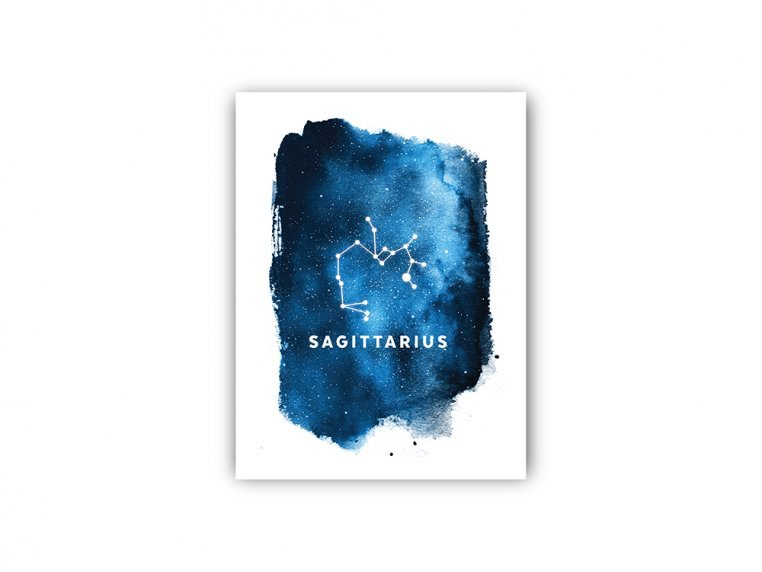 Constellation Zodiac Sign Art Print by Point Two Design - 24