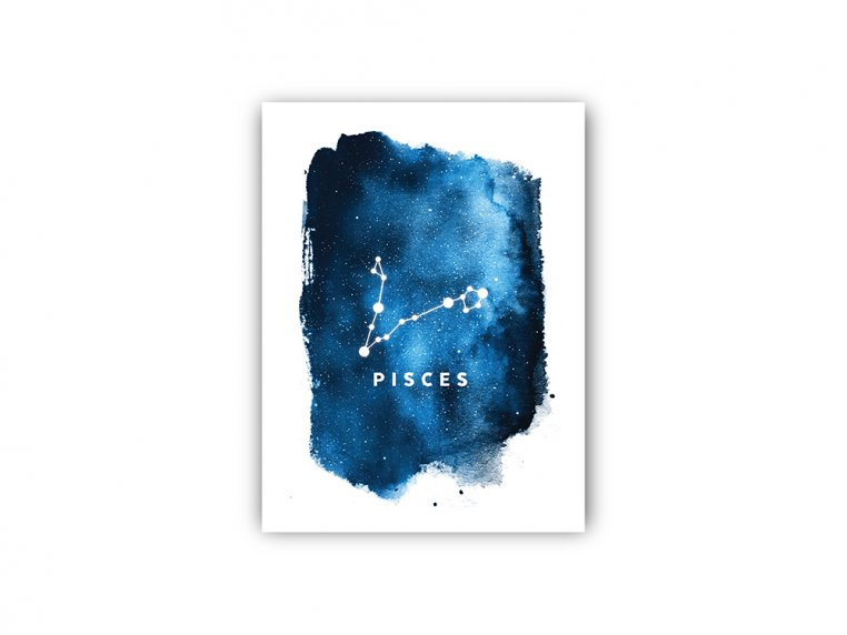 Constellation Zodiac Sign Art Print by Point Two Design - 27