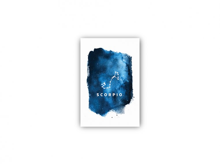 Constellation Zodiac Sign Art Print by Point Two Design - 35