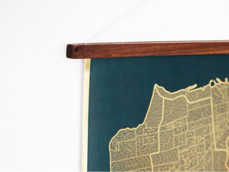 Reclaimed Wood Hanger Frame by Native Maps - 2