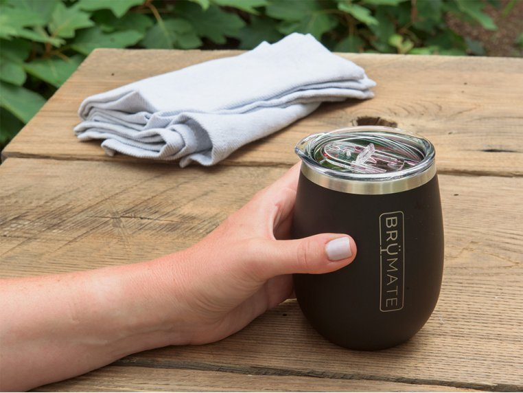 Stainless Steel Insulated Wine Glass by BrüMate - 1