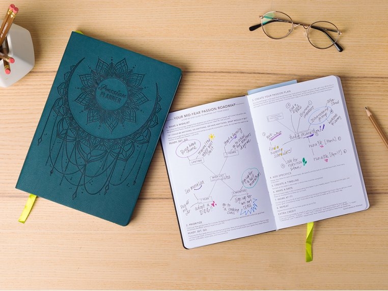 Undated Goal Planner & Daily Organizer by Passion Planner - 1