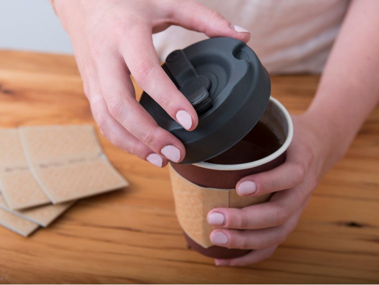Silicone Coffee Cup Lid by Earthlid - 2
