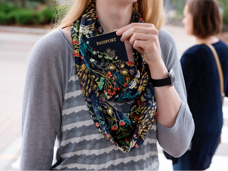 Infinity Pocket Scarf by Speakeasy Travel Supply - 1