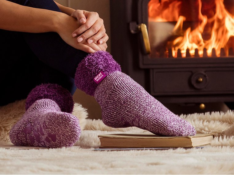 Brushed Thermal Lounge Socks by Heat Holders® - 1