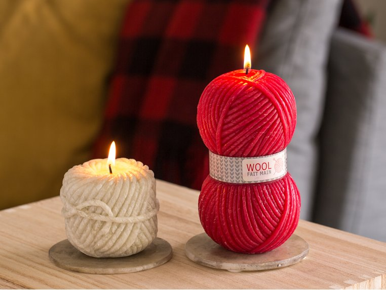 Handcrafted Yarn Candle by Bougies La Francaise - 1