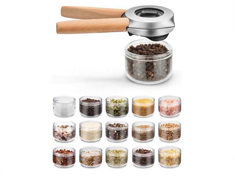 One-Handed Spice & Pepper Grinder by Ortwo by Dreamfarm - 4