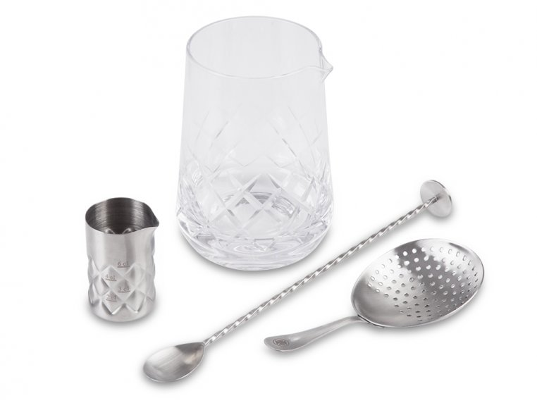 Cocktail Mixing Glass Gift Set by The Elan Collective - 3