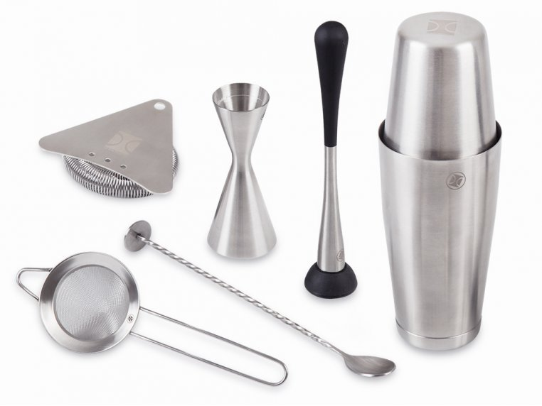 Cocktail Mixing Shaker Gift Set by The Elan Collective - 7