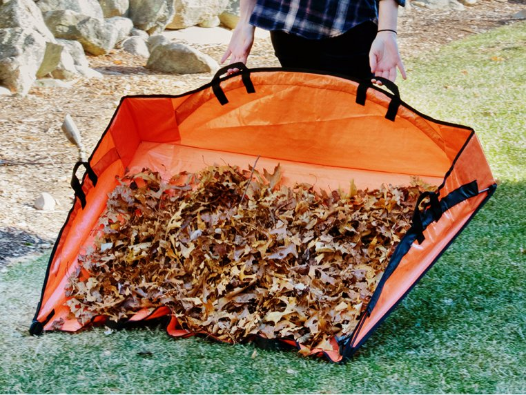 Leaf Hauler Reinforced Clean-Up Tarp by EZ Lawn and Garden - 2