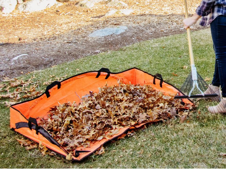 Leaf Hauler Reinforced Clean-Up Tarp by EZ Lawn and Garden - 1