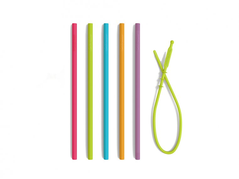 Silicone Drinking Straws - 5-Pack by Softy Straws - 4