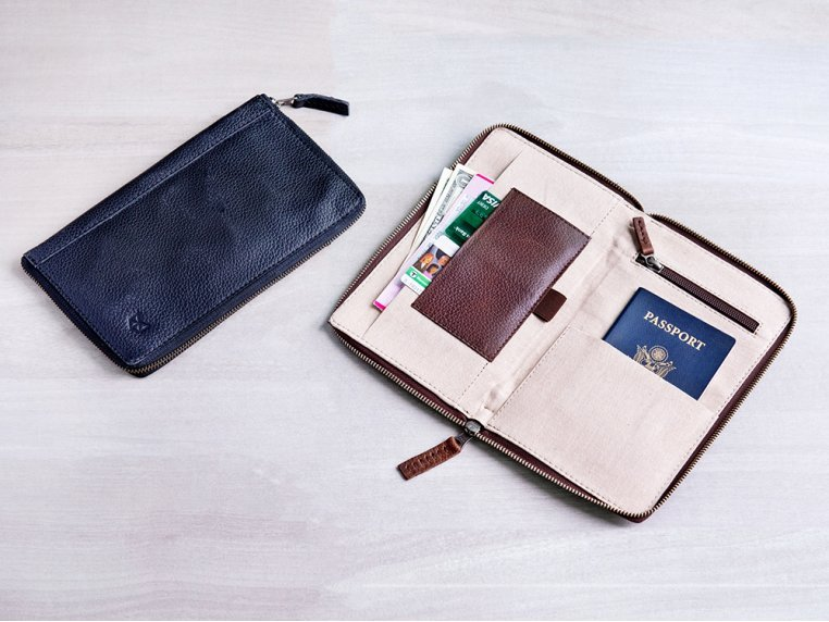 Leather Zippered Passport Holder by Capra Leather - 1