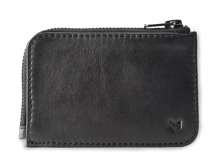 Leather Zippered Card Holder - Black by Capra Leather - 1