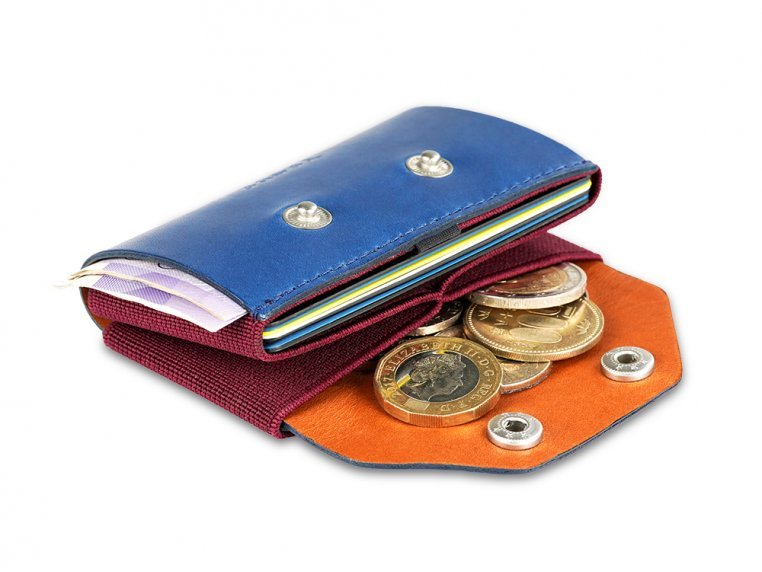 Minimalist Leather & Elastic Coin Pouch