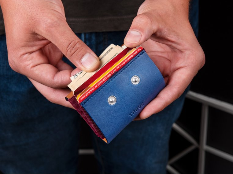 Minimalist Leather & Elastic Coin Pouch by TROVE - 1