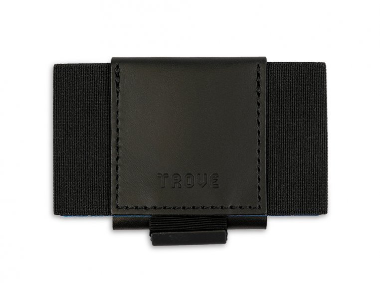 Minimalist Leather & Elastic Wallet - Black by TROVE - 1