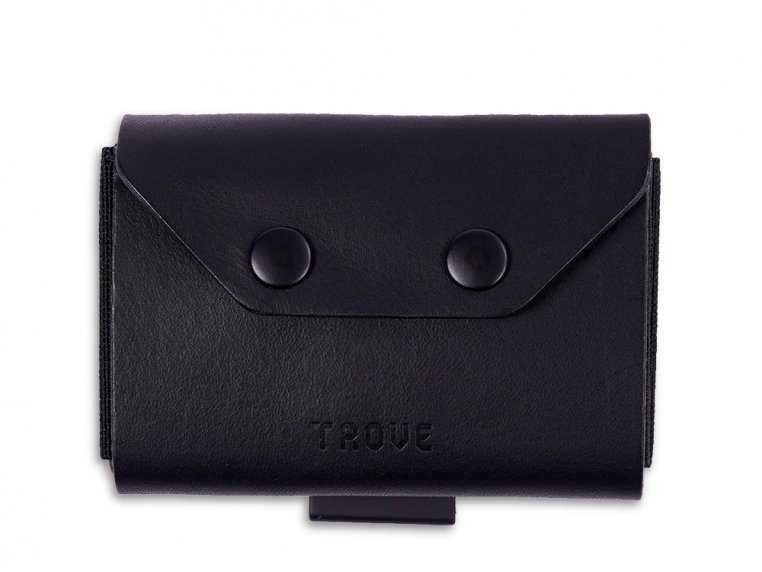 Minimalist Leather & Elastic Coin Pouch by TROVE - 4