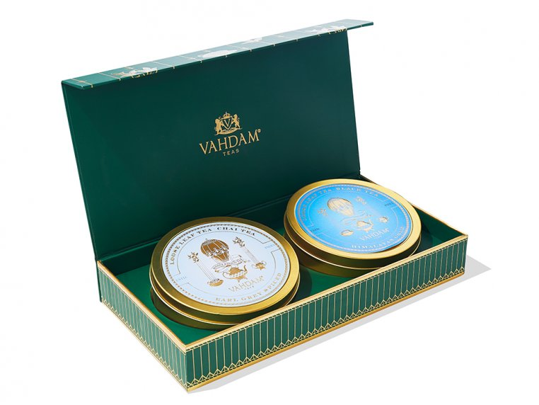 Indian Tea & Decorative Tin Gift Box by Vahdam Teas - 4