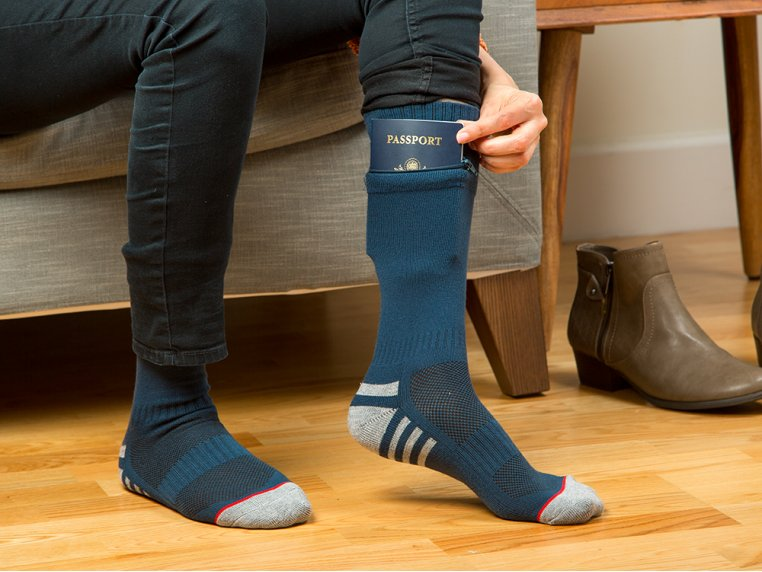 Women's Passport Pocket Socks by Pocket Socks® - 1