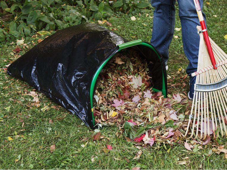 Lawn Bag Holder with Stakes by Leaf Gulp - 2