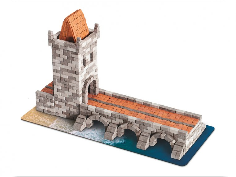 Wise Elk Tower construction toy gypsum tower building 470 real plaster bricks