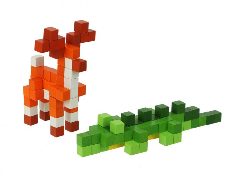 Colorful Wooden Building Toys by Wise Elk - 1