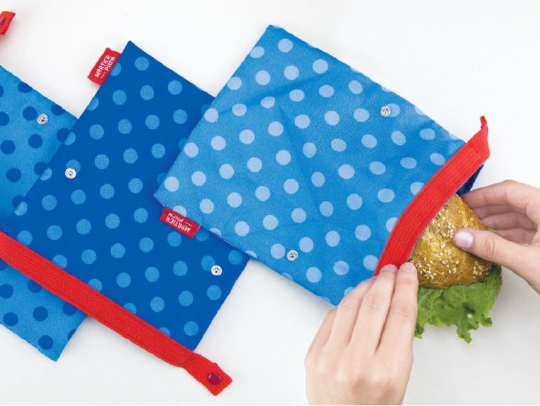 Reusable Lunch Snack Bags - Set of 3 by Mortier Pilon - 2