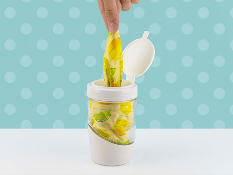Reusable Cleaning Wipes & Dispenser by Mortier Pilon - 1