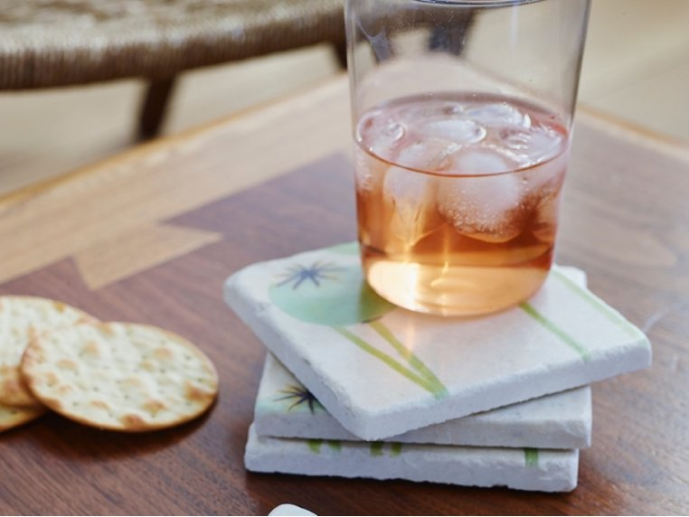 Floral Marble Coaster Set by India & Purry by Jessica Hollander - 2
