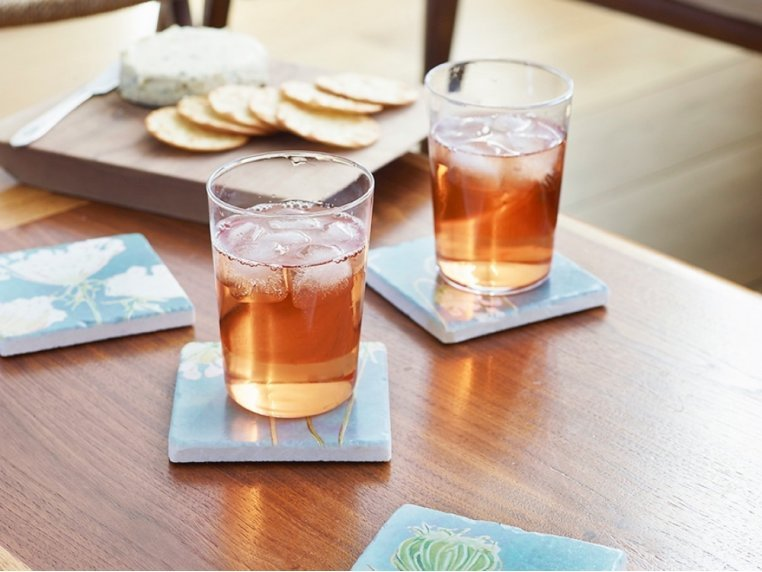 Floral Marble Coaster Set by India & Purry by Jessica Hollander - 1