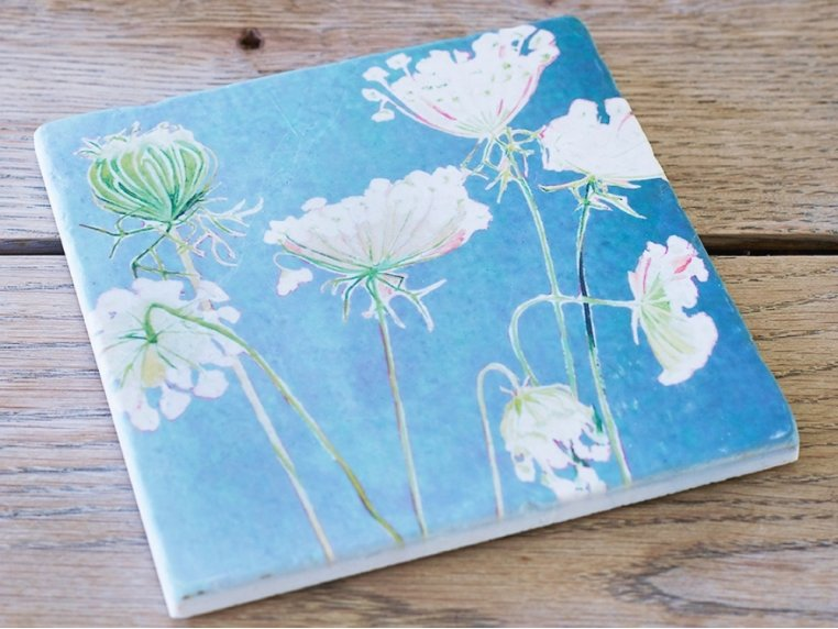Floral Marble Trivet by India & Purry by Jessica Hollander - 2