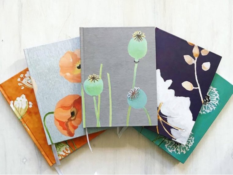 Floral Hardcover Journal by India & Purry by Jessica Hollander - 2